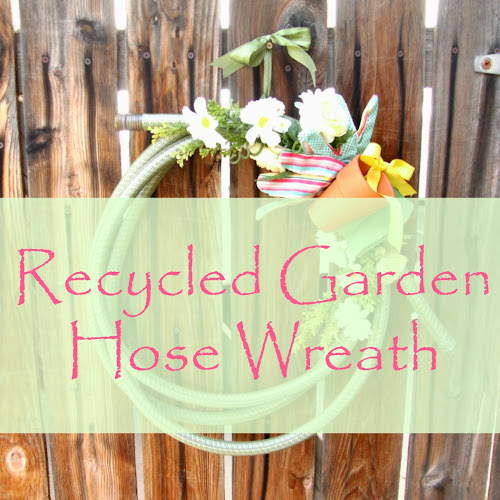 Recycled Garden Hose Wreath - Weekend Yard Work Series