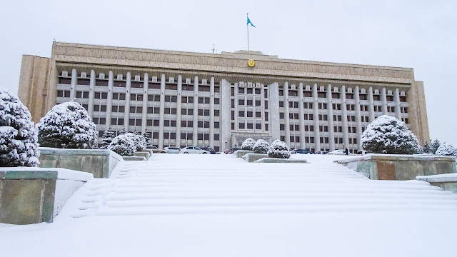 Almaty presidental residence in winter