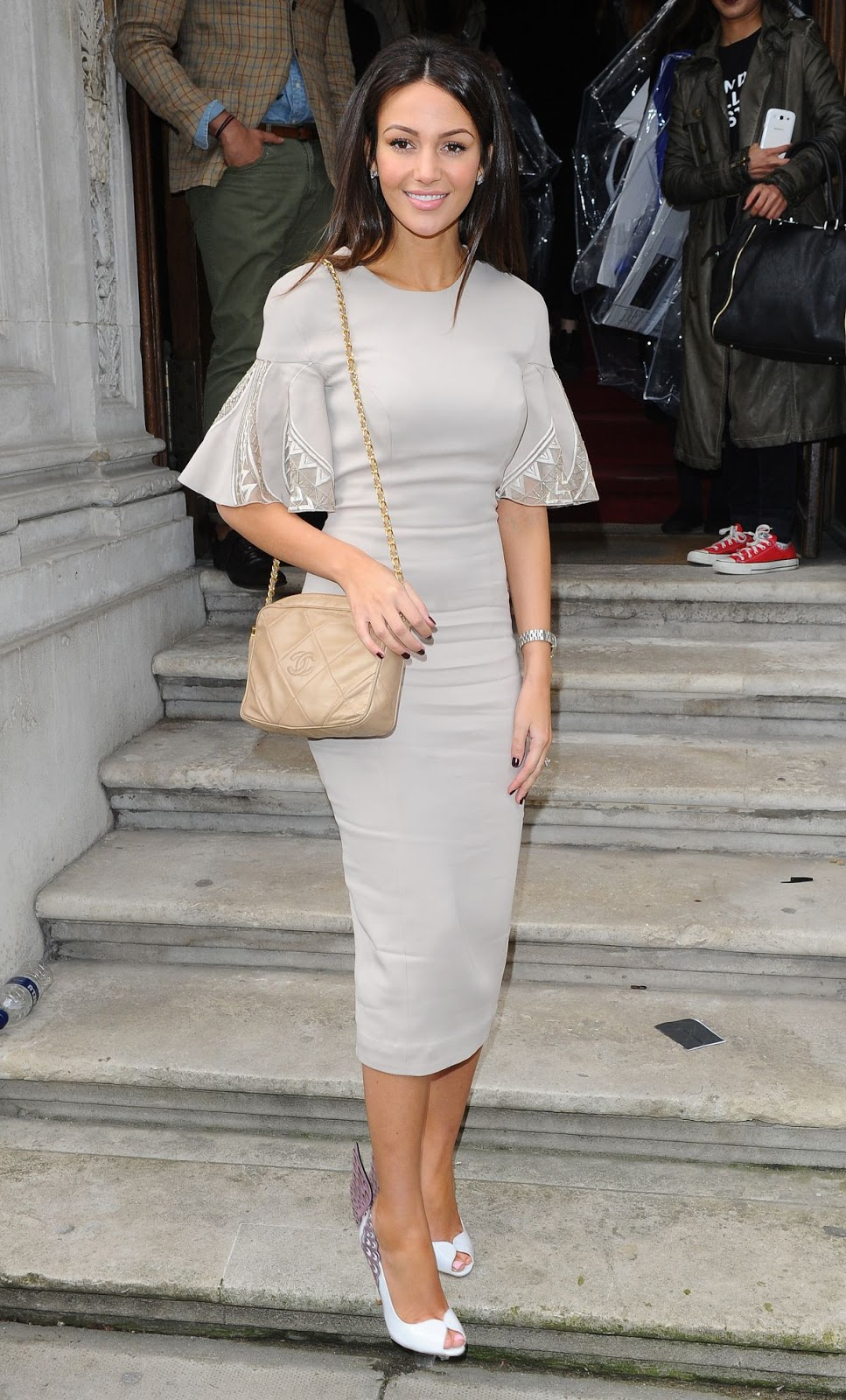 HD Photos of Michelle Keegan At Julien Macdonald Fashion Show In London
