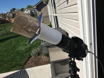solar filter on camera