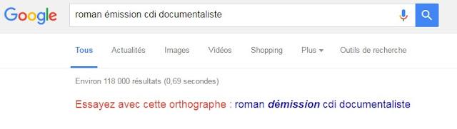 Capture d'écran google