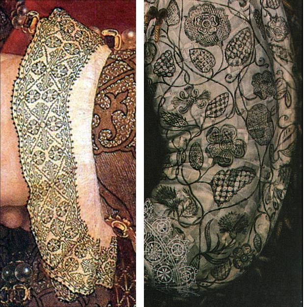 blackwork embroidery, history of blackwork embroidery, painring blackwork embroidery