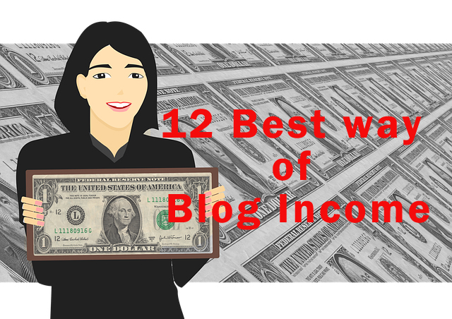 12 best way of blog income