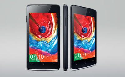 Oppo R1001 Joy Specifications - LAUNCH Announced 2014, May DISPLAY Type TFT capacitive touchscreen, 16M colors Size 4.0 inches (~58.3% screen-to-body ratio) Resolution 480 x 800 pixels (~233 ppi pixel density) Multitouch Yes BODY Dimensions 124 x 63 x 9.9 mm (4.88 x 2.48 x 0.39 in) Weight 125 g (4.41 oz) SIM Dual SIM (Mini-SIM/ Micro-SIM) PLATFORM OS Android OS, v4.2.1 (Jelly Bean) CPU Dual-core 1.3 GHz Cortex-A7 Chipset Mediatek MT6572 GPU Mali-400 MEMORY Card slot microSD, up to 32 GB (dedicated slot) Internal 4 GB, 512 MB RAM CAMERA Primary 3.15 MP, LED flash Secondary VGA Features Geo-tagging Video 720p@30fps NETWORK Technology GSM / HSPA 2G bands 850 / 900 / 1800 / 1900 - SIM 1 & SIM 2 3G bands HSDPA 2100 Speed HSPA GPRS Yes EDGE Yes COMMS WLAN Wi-Fi 802.11 b/g/n, DLNA, hotspot GPS Yes, with A-GPS USB microUSB v2.0 Radio FM radio Bluetooth Yes FEATURES Sensors Accelerometer, proximity Messaging SMS (threaded view), MMS, Email, Push Email Browser HTML5 Java No SOUND Alert types Vibration; MP3, WAV ringtones Loudspeaker Yes 3.5mm jack Yes BATTERY  Removable Li-Ion 1700 mAh battery Stand-by  Talk time  Music play  MISC Colors White, Black SAR US - MP4/H.264/FLAC player - MP3/eAAC+/WAV player - Document viewer - Photo viewer/editor - Voice memo/dial