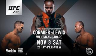 Ver repeticion UFC 230 Cormier vs Lewis Gratis y En HD