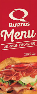 Quiznos Menu Prices May 16 – July 3, 2017