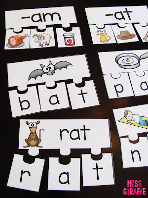 CVC words puzzles and other fun short vowels ideas and activities