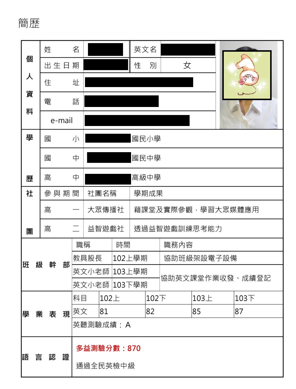 Less than 3.: 【105年申請入學】準備經驗分享(二)
