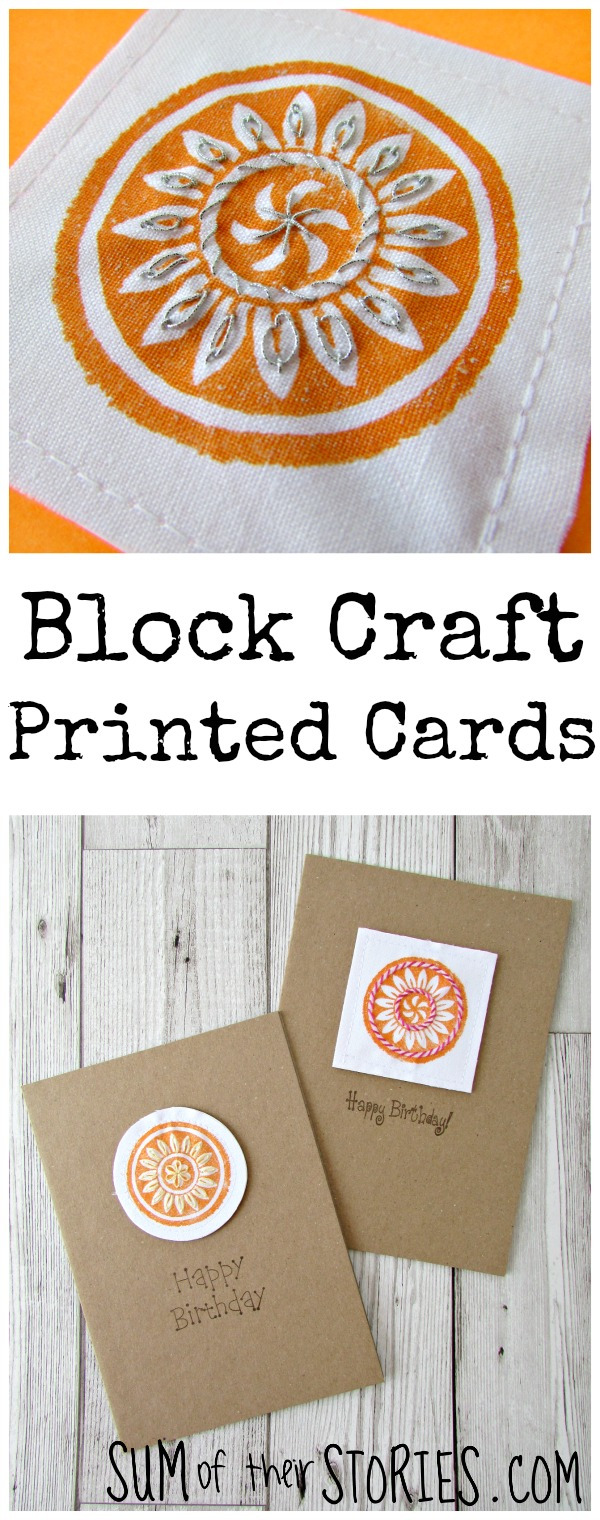 wooden Block  Printed Cards