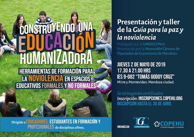 Taller: Construyendo una Educación Humanizadora. Godoy Cruz, Mendoza.