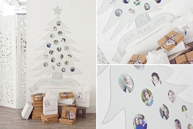 Árvores de natal criativa de parede com adesivo