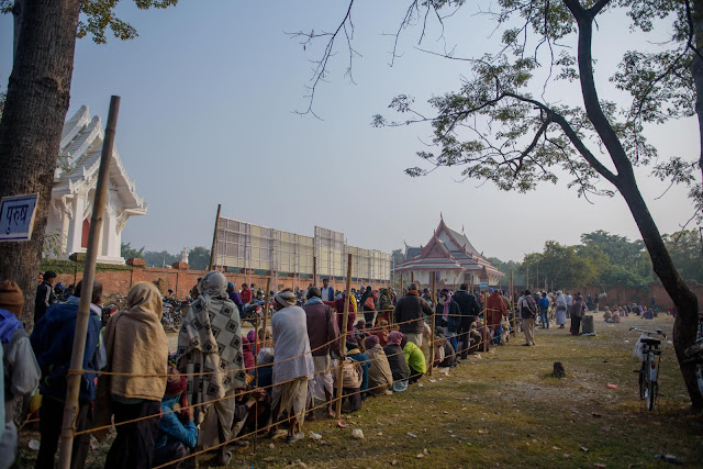 patient queue in surgical eye camp of Nepal
