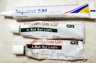 tretinoin Retin-A gel 0.05% 0.025% Micro Supatret 0.04 India generic ADC