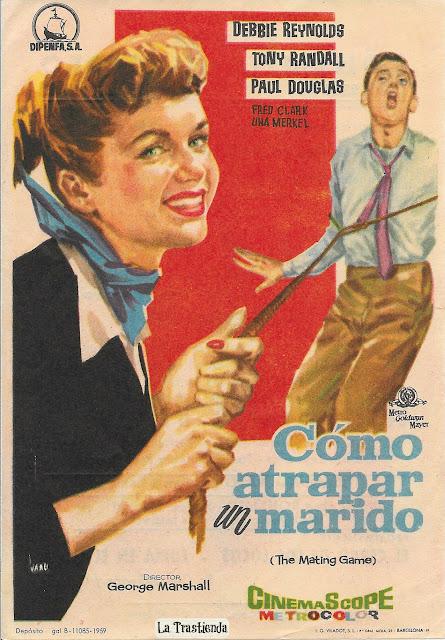 Cómo Atrapar un Marido - Programa de Mano - Debbie Reynolds - Tony Randall