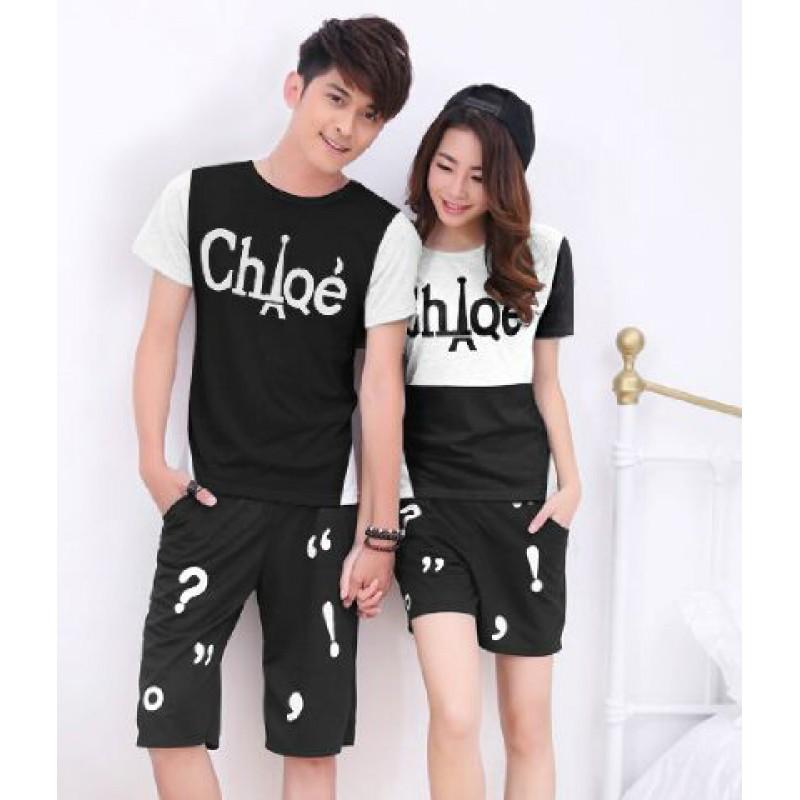 Jual Online CS Paris Chloe Couple Murah Jakarta Bahan Combed Terbaru