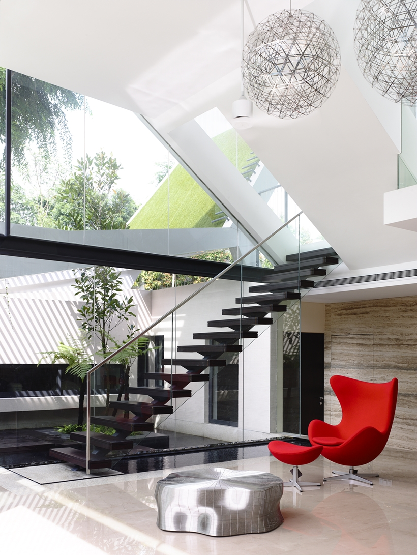Stairs in an Impressive dream home in Singapore by a-dlab
