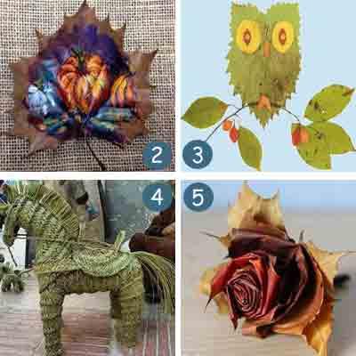 ide kreatif karya seni dari daun kering