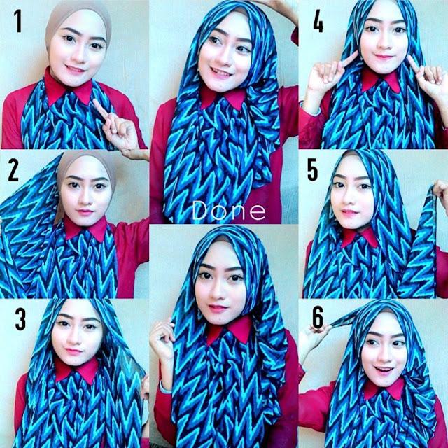 model hijab segi empat style 4