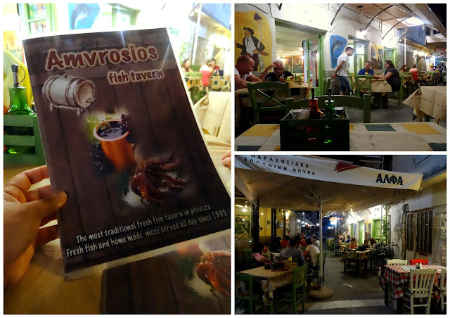 Amvrosios fish taverna in Preveza