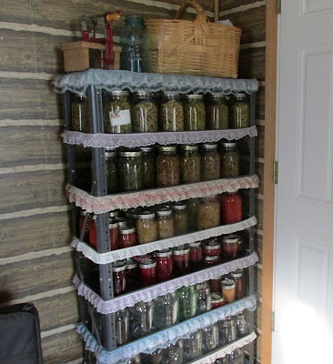 The After Picture of the Canning Shelf-All organized and counted!