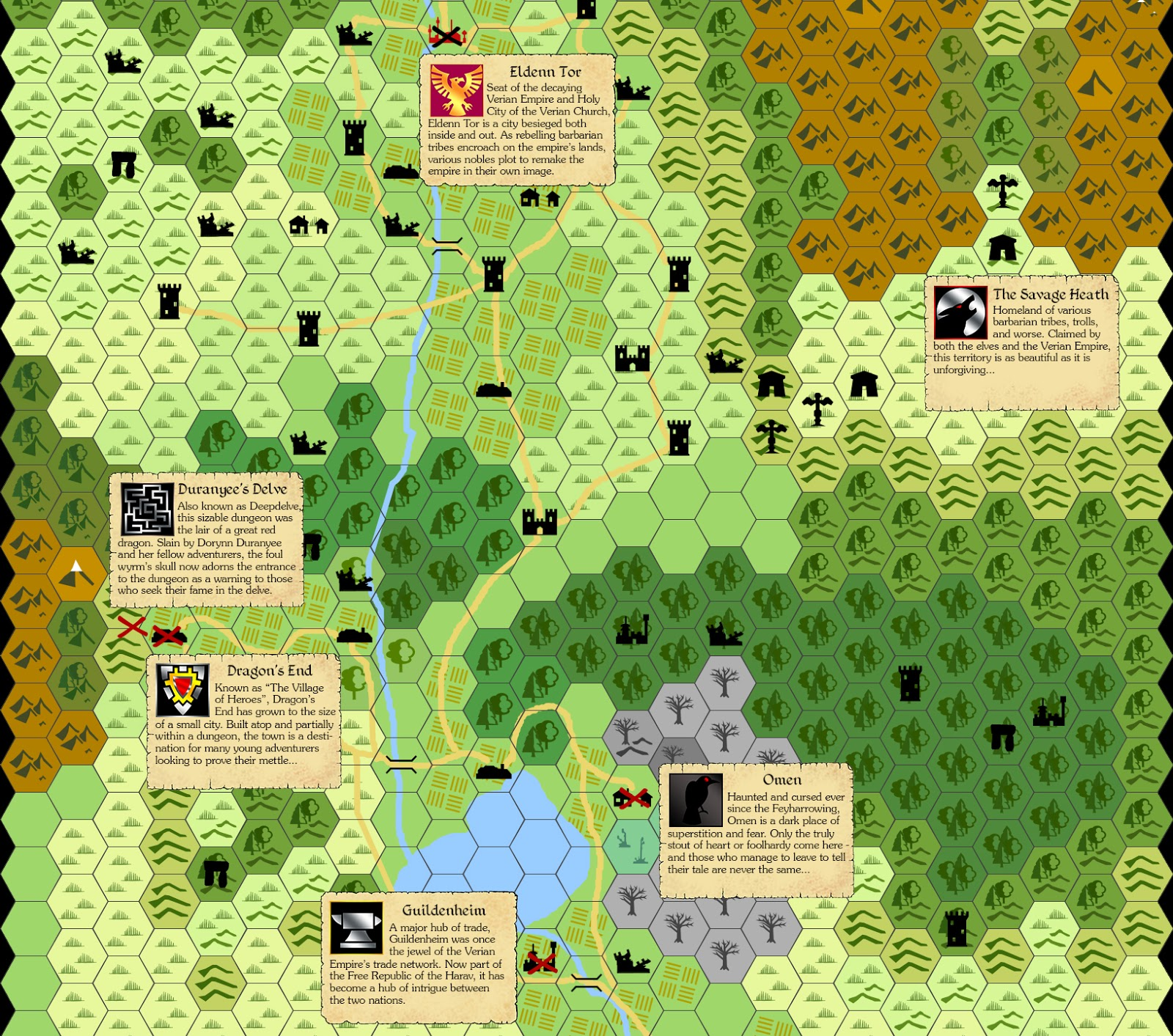 map by hexographer icons by lorc parchment template by inked adventures photoshop magic by me