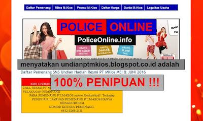 www.undianptmkios.blogspot.co.id 100% PENIPUAN Undian M-KIOS
