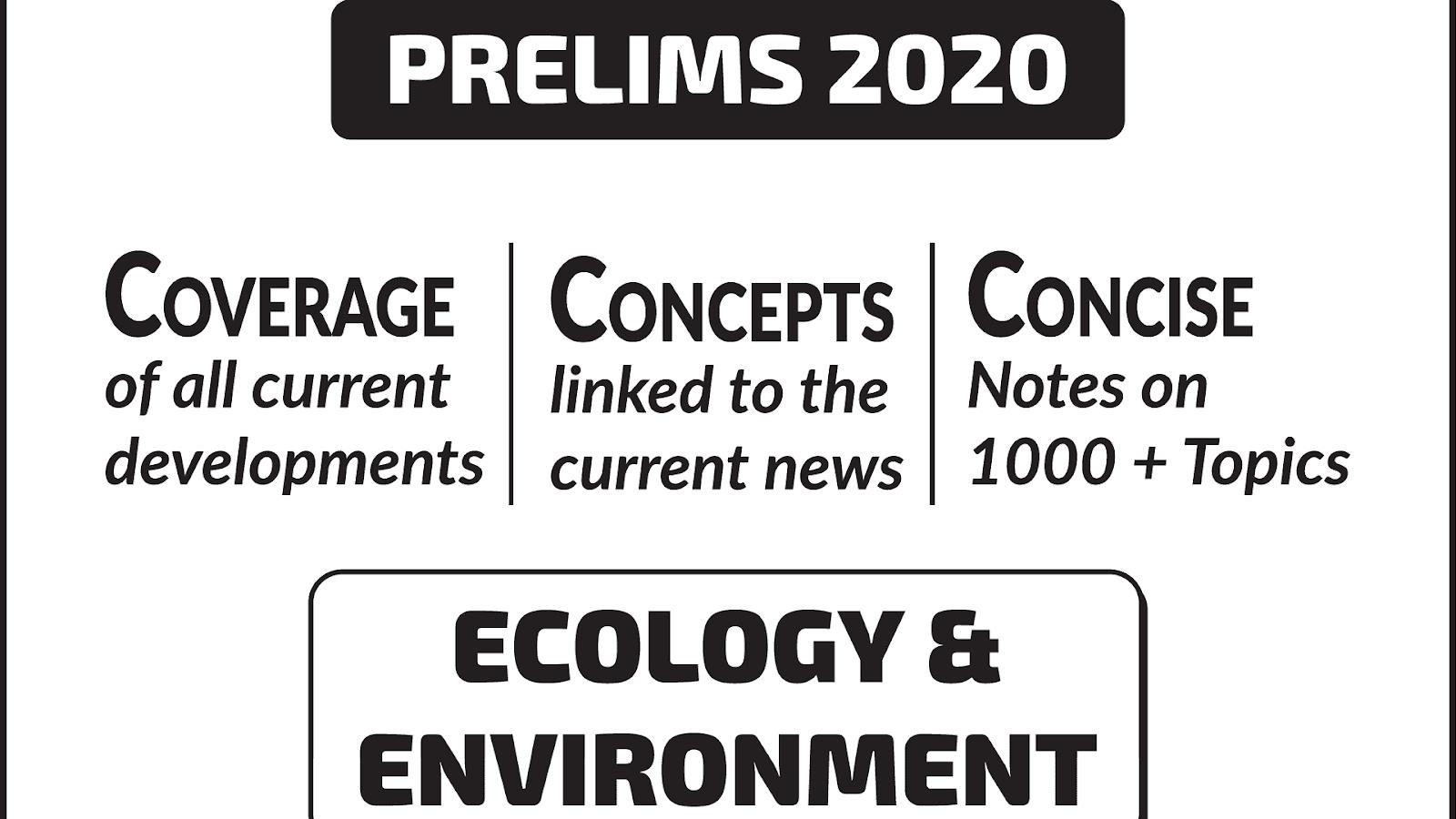 Environment Ecology UPSC CSE Material