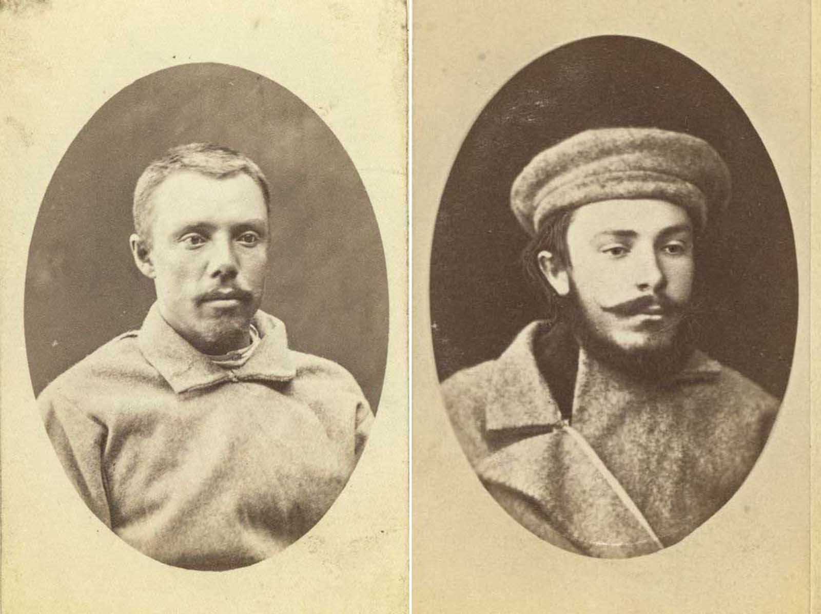 (Right) Klenof. (Left) Dikofski, sentenced in Odessa to 15 to 20 years.