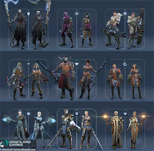 شخصيات سكاي فورج skyforge classes