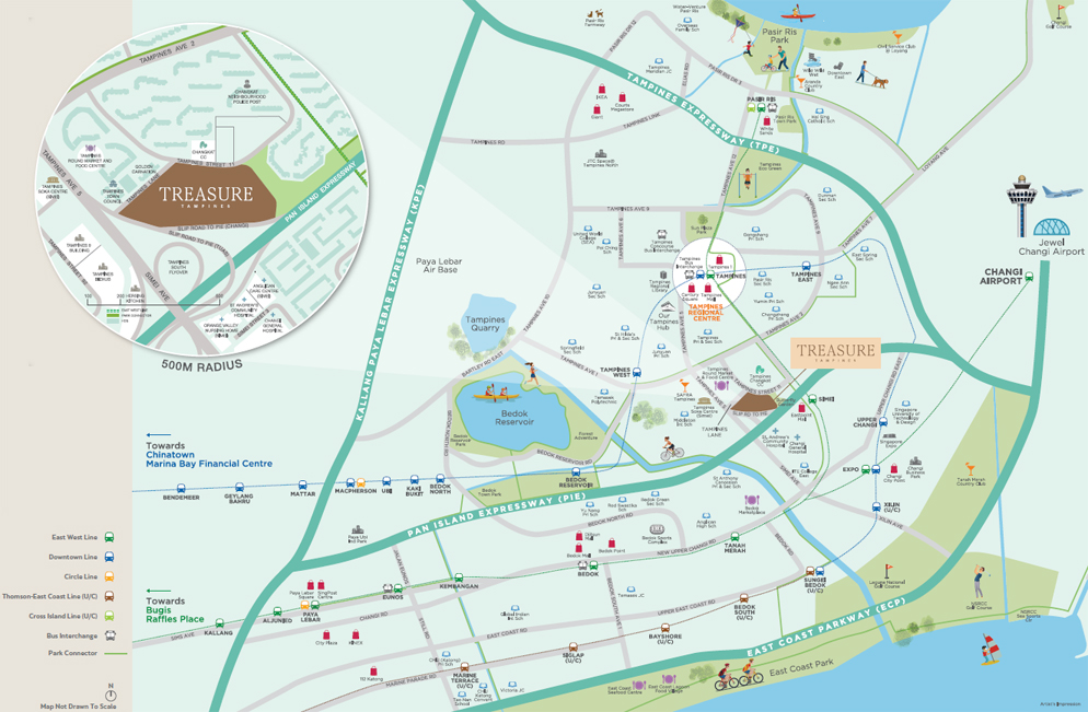 Treasure Tampines Location Map