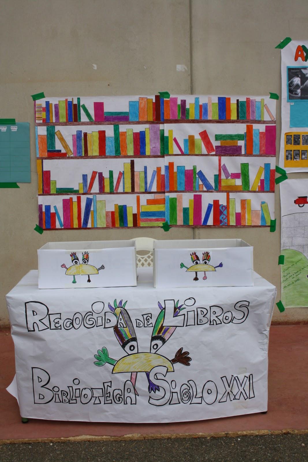 La biblioteca organiza una recogida de libros de segunda for Puertas decoradas para el dia del libro
