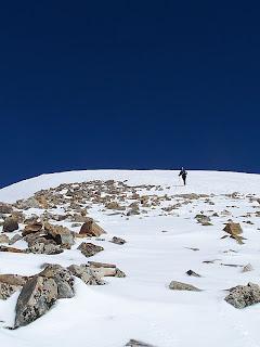 Quandary Peak in the snow