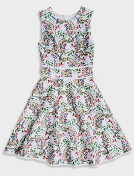 White Jeweled Floral Bonded Party Dress