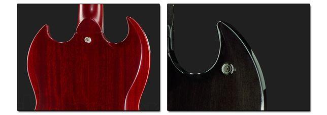 Posiciones del Enganche de la Correa de una Guitarra SG