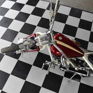 Greatmats Motorcycle Parking Mats with Garage Tiles