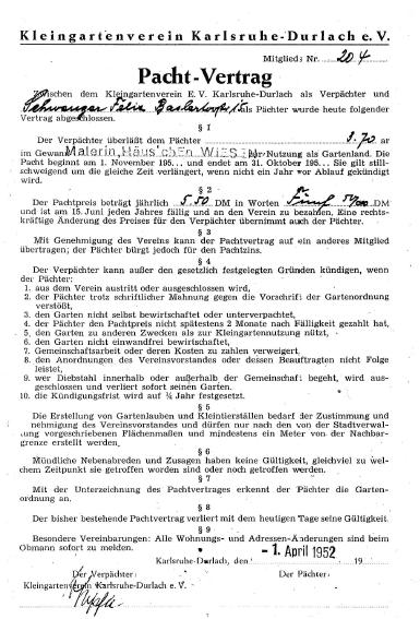 Kleingartenverein Durlach Sud E V Historie