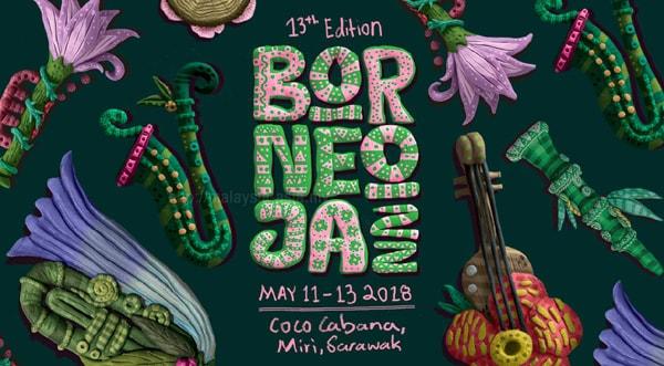 Borneo Jazz 2018 Poster Logo