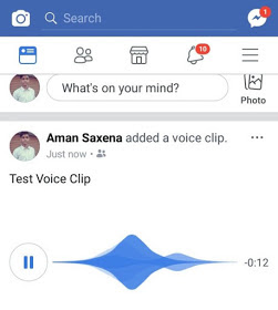 play facebook voice clip status