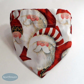 Santa Claus Christmas Dog Bandana