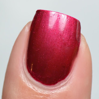 deep red pearl nail polish