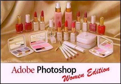 Photoshop für Frauen Computer lustig - Schminke