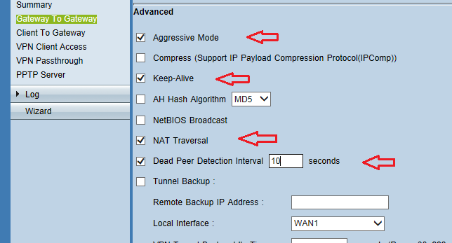 Sonicwall ssl vpn server settings