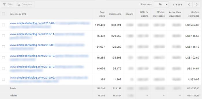 Critérios de URL Google Adsense