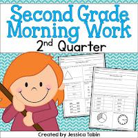 Morning work for 2nd quarter! kindergarten, 1st grade, and 2nd grade samples