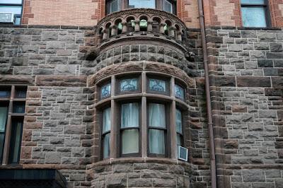 Stone turret with windows