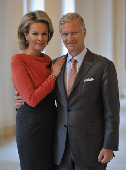 The Belgian Royal Court has released new photos of Crown Prince Philippe, Princess Mathilde and their children
