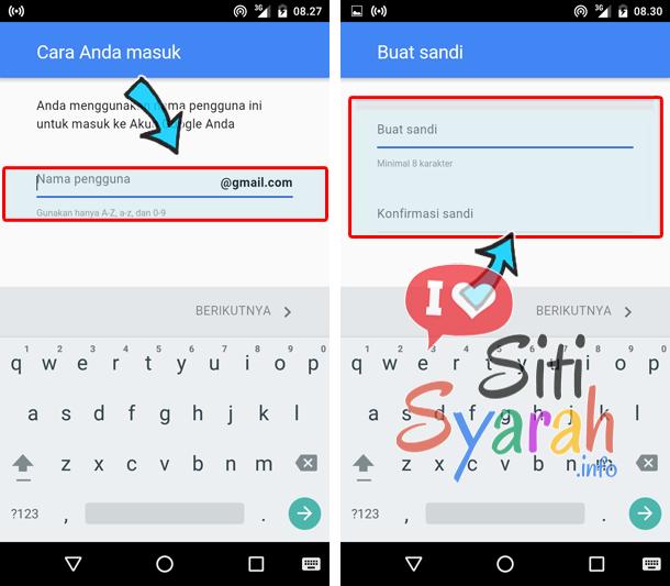cara mengganti email di hp android