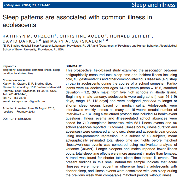 Why Is Adequate Sleep Important?