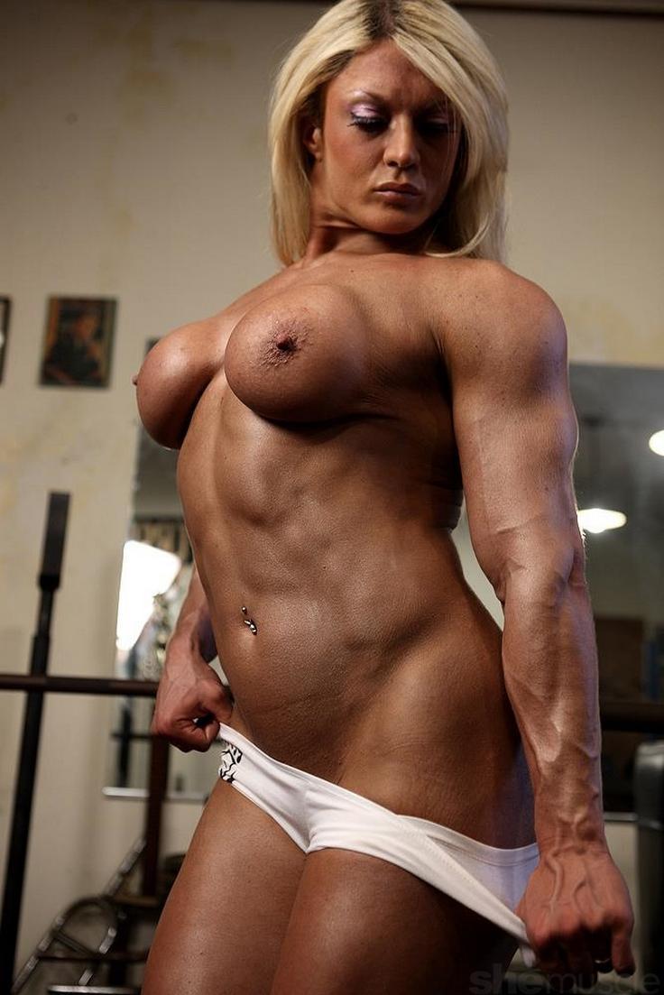 Muscle girl bondage arm