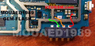 Jumper e componentes Conector da Bateria Samsung J3 J320H   Samsung J3 J320H Battery Connector Terminal Jumper Ways